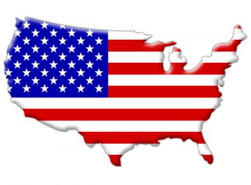 American-flag-inside-country-map-outline